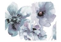 Flowering Blue Hues Framed Print