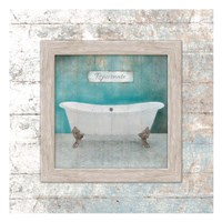 Framed Aqua Bath Fine Art Print