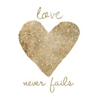 Love Never Fails Framed Print