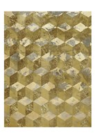 Golden Cubism Fine Art Print