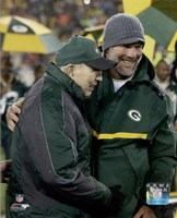 Brett Favre & Bart Starr at Favre's number retirement ceremony at Lambeau Field- November 26, 2015 Framed Print