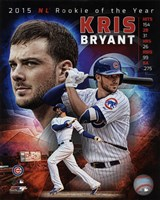 Kris Bryant 2015 National League Rookie of the Year Portrait Plus Fine Art Print