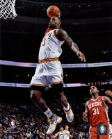 LeBron James 2015-16 Action Framed Print