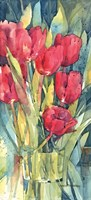 Red Hot Tulips Fine Art Print