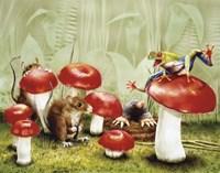 Mushroom Meeting Fine Art Print