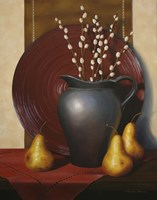 Still Life with Black Vase Fine Art Print