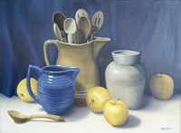 Blue Pitcher Fine Art Print