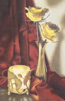Candle Lit Roses Fine Art Print