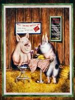 Wine, Dine & Swine Fine Art Print
