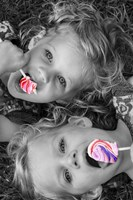 Lollipop Twins Fine Art Print