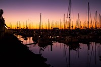 Marina Twilight Framed Print