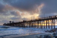 Sunset Through Oceanside Pier Fine Art Print