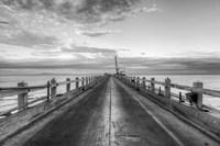 Carpinteria Pier View II Framed Print