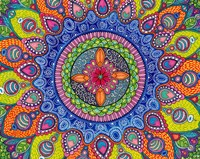 Mardi Gras Mandala Fine Art Print