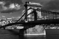 Budapest Chain Bridge BW Fine Art Print