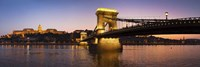 Panorama Budapest Chain Bridge Fine Art Print