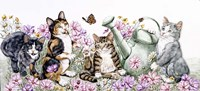 Flower Cats Fine Art Print