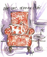 Awesome Orange Chair Fine Art Print
