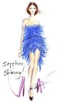 Sapphire Shimmy Fine Art Print