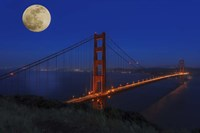 Golden Gate Bridge Full Moon Fine Art Print