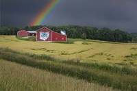 Ohio Farm Rainbow Fine Art Print