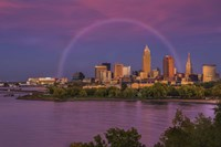 Rainbow over Cleveland Fine Art Print