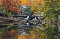 Grist Mill In The Fall Fine Art Print
