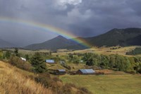 Montana Farm Rainbow Fine Art Print