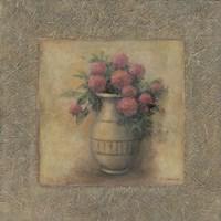 Red Flowers In Vase Framed Print