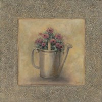 Flowers In A Watering Can Framed Print