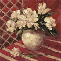 Peonies In Vase Fine Art Print