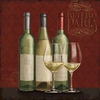 Bistro Paris White Wine Fine Art Print