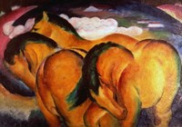 Little Yellow Horses, 1912 Fine Art Print