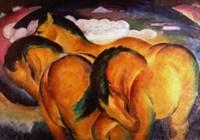 Little Yellow Horses, 1912 Fine Art Print