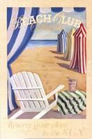 Beach Club Cabanas Fine Art Print