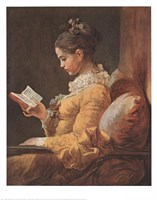 Girl Reading Fine Art Print