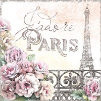 Paris Roses III Framed Print