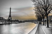 River Seine And The Eiffel Tower Fine Art Print