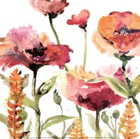 Blooms And Greens Fine Art Print
