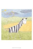 Quinn's Zebra Framed Print