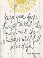 Sun Quote III Framed Print