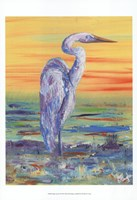 Egret Sunset I Framed Print