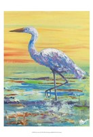 Egret Sunset II Framed Print