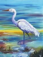 Yellow Heron II Fine Art Print