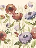 Jeweltoned Blossoms I Framed Print