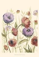 Jeweltoned Blossoms II Framed Print