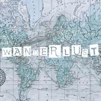 Map Words V Framed Print