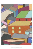 Rooftops in Color III Fine Art Print