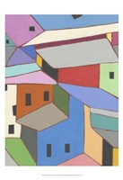 Rooftops in Color XII Fine Art Print