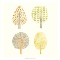 Forest Patterns II Framed Print